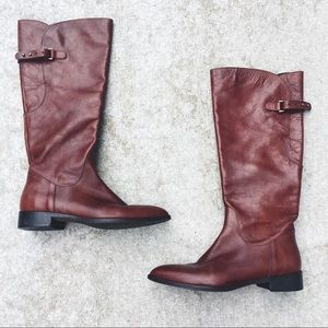 Sesto Meucci Leather Buckle Tall Boot
